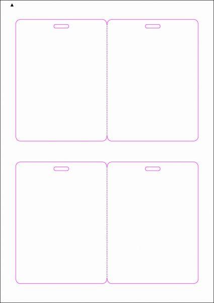 Zugangsausweis-Etiketten 90x120 mm, DIN AA, weiss, matt, permanent klebend - SE70-15265P