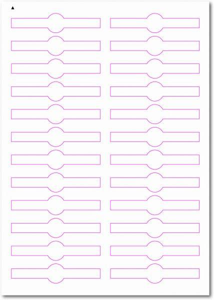 Siegel-Etiketten, 90x20 mm, DIN AA, blanko, weiss, matt, permanent klebend - SE70-35070