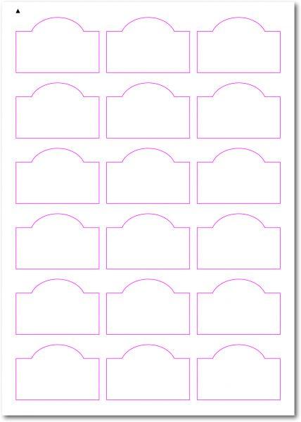 Gläser-Etiketten zum selbergestalten und ausdrucken, 60x40 mm, DIN A4, blanko, weiss, matt, permanent klebend - SE70-34010