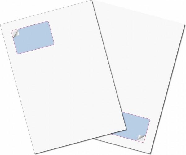 Gather Card ITP 00/50µ - Briefbogen mit Integrierter Karte 85x54mm
