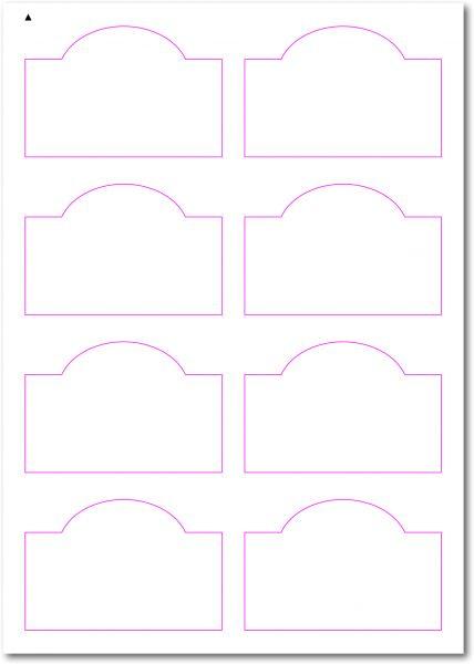 Gläser-Etiketten zum selbergestalten und ausdrucken, 90x65 mm, DIN A4, blanko, weiss, matt, permanent klebend - SE70-34000