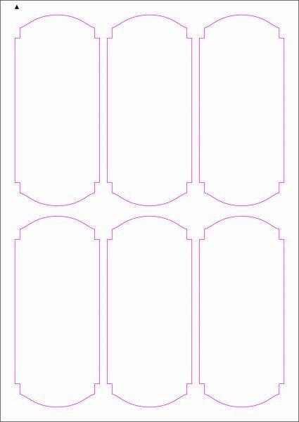 Weinflaschenetiketten 60x135 mm, DIN A4, Papier oder PE-Folie, weiss, matt, permanent klebend - SE70-09404P