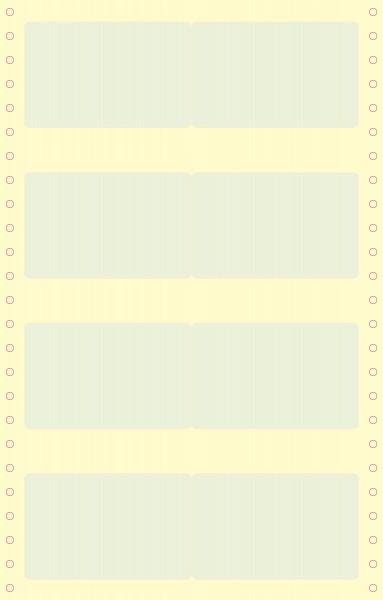 Schutzfolie in EC-Kartengröße 170 x 54 mm (mit Perforation)