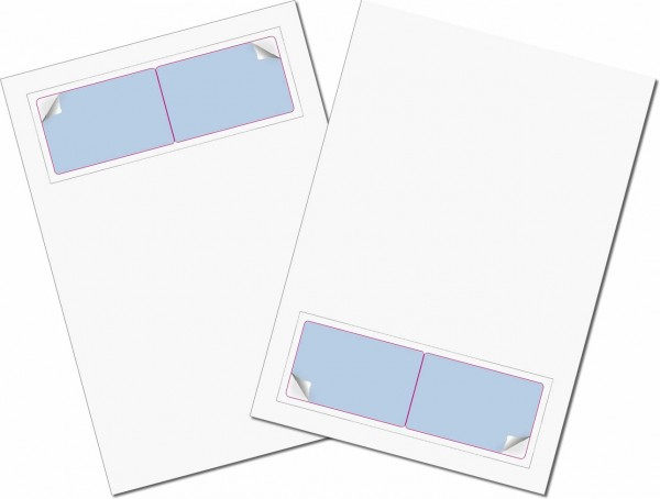 Gather Card Twincard sk 50µ - Briefbogen mit Integrierter Karte 85x54mm