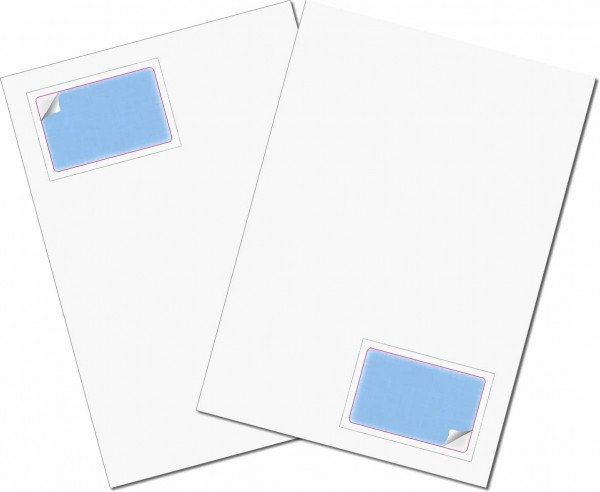 PractiCard Holo - Briefbogen mit Integrierter Karte 85x54mm