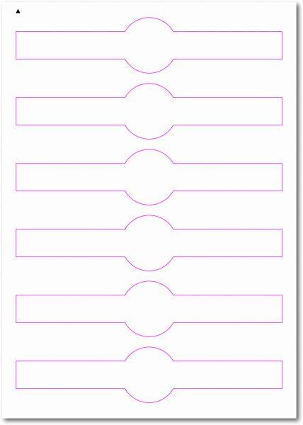 Siegel-Etiketten zum Selbergestalten und ausdrucken, 190x40 mm, DIN AA, blanko, weiss, matt, permanent klebend - SE70-35010