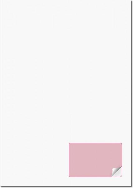 A4 Bogen mit ablösbarem Etikett 85x54mm - Briefbogen mit Integriertem Etikett