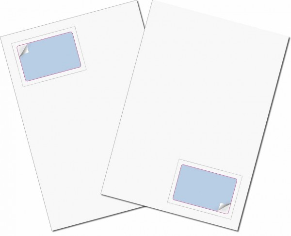 Gather Card Vignette - Briefbogen mit Integrierter Karte 85x54mm