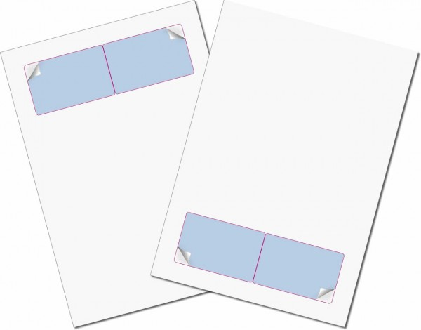 Briefbogen mit Integrierter Karte 85x54mm - Gather Card Twincard sk