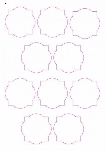 Etiketten im Sonderform / Sonderformat, Etiketten rund-eckig zum selbergestalten und ausdrucken, 60x60 mm, DIN A4, blanko, weiss, matt, permanent klebend - SE70-30050