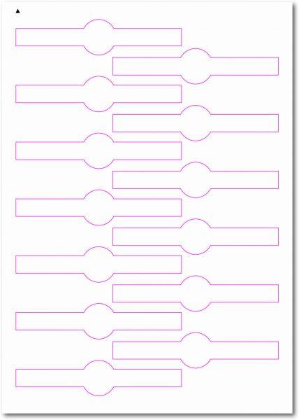 Siegel-Etiketten, 120x26 mm, DIN AA, blanko, weiss, matt, permanent klebend - SE70-35040