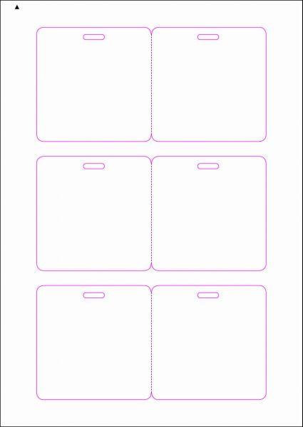 Zugangsausweis-Etiketten 80x80 mm, DIN AA, weiss, matt, permanent klebend - SE70-15000P