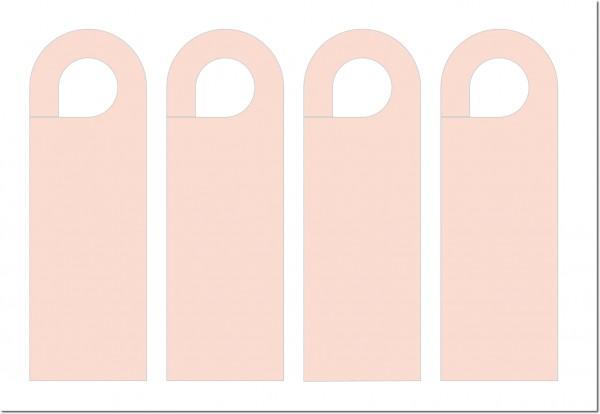 Vorgestanzte Türanhänger, Autospiegelanhänger, Parkausweise, Blanko 60 x 180