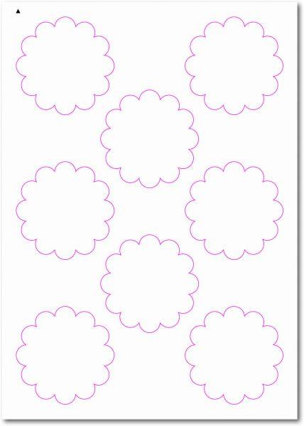 Etiketten im Sonderformat, Blumenetiketten zum selbergestalten und ausdrucken, 70x70 mm, DIN A4, blanko, weiss, matt, permanent klebend - SE70-33020