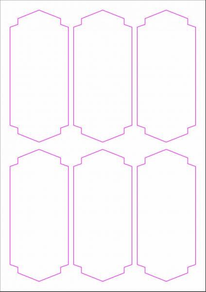Weinflaschenetiketten 60x135 mm, DIN A4, Papier oder PE-Folie, weiss, matt, permanent klebend - SE70-09400P