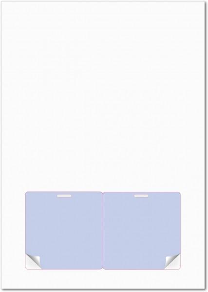 Gather 2 x ITP Zugangsausweis - Briefbogen mit Integrierter Karte 80x80mm