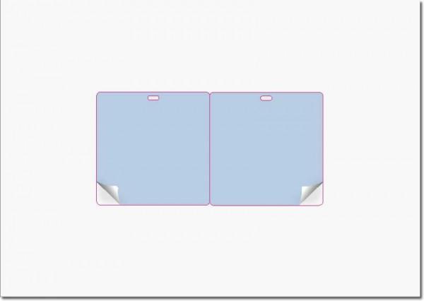 Gather 2 x ITP Zugangsausweis quer - Briefbogen mit Integrierter Karte 80x80mm