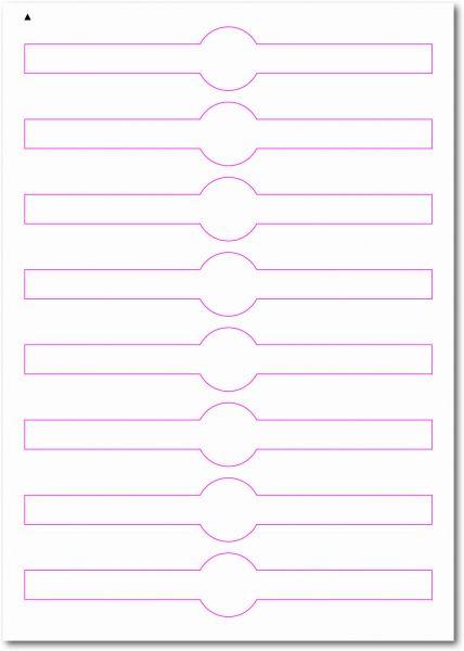 Siegel-Etiketten zum Selbergestalten und ausdrucken, 190x330 mm, DIN AA, blanko, weiss, matt, permanent klebend - SE70-35020