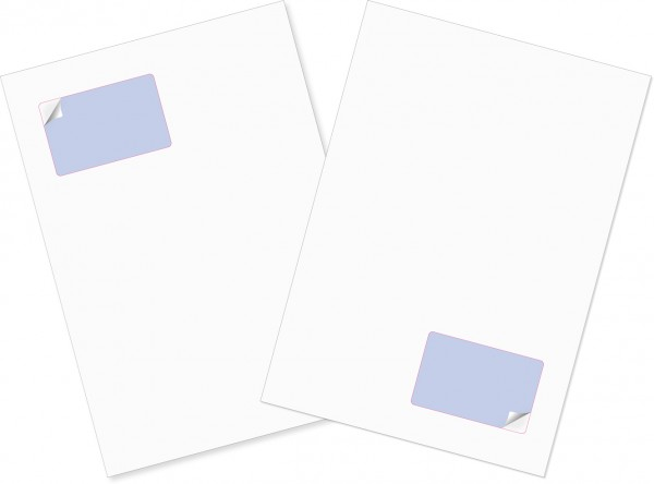 Briefbogen mit Integrierter Karte 85x54mm - Gather Card ITP 50/50µ