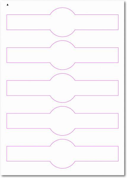 Siegel-Etiketten zum Selbergestalten und ausdrucken, 190x50 mm, DIN AA, blanko, weiss, matt, permanent klebend - SE70-35000