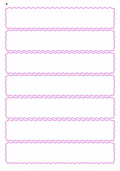Etiketten mit gewellten Linien zum selbergestalten und ausdrucken, 190x36 mm, DIN A4, blanko, weiss, matt - Etiketten in Sonderformen / Sonderformat - SE70-04940