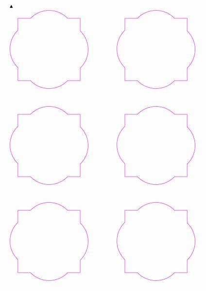 Etiketten im Sonderform / Sonderformat, Etiketten rund-eckig zum selbergestalten und ausdrucken, 80x80 mm, DIN A4, blanko, weiss, matt, permanent klebend - SE70-30070