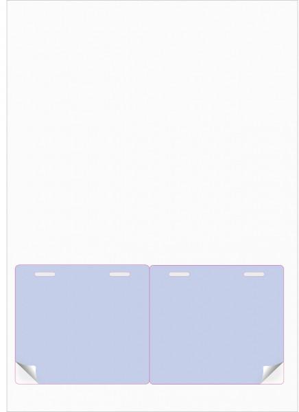 Gather 2 x ITP Zugangsausweis - Briefbogen mit Integrierter Karte 97x86mm