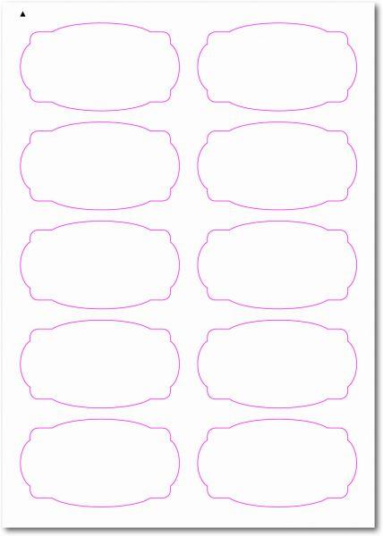 Etiketten im Sonderformat, Etiketten oval Ecken gerundet zum selbergestalten und ausdrucken, 90x50 mm, DIN A4, blanko, weiss, matt, permanent klebend - SE70-31000