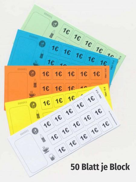 15 € Verzehrkartenblock fortlaufend nummeriert - Biermarken-/ Wertmarkenblock
