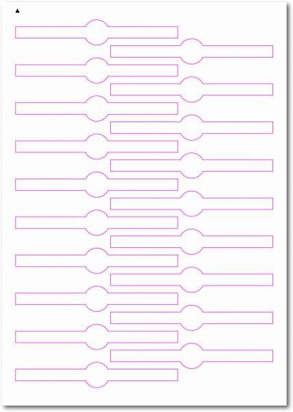 Siegel-Etiketten, 120x19 mm, DIN AA, blanko, weiss, matt, permanent klebend - SE70-35050