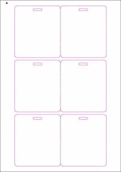 Zugangsausweis-Etiketten 80x90 mm, DIN AA, weiss, matt, permanent klebend - SE70-15005P