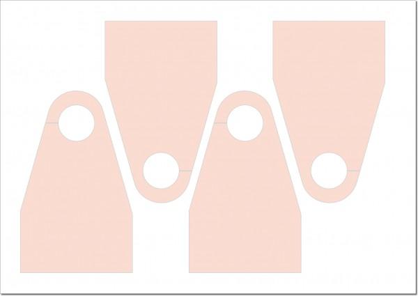 Vorgestanzte Türanhänger, Autospiegelanhänger, Parkausweise, Blanko 80 x 130 mm