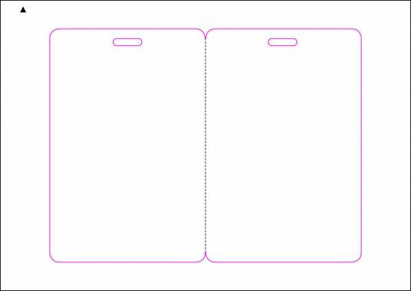 Zugangsausweis-Etiketten 80x120 mm, DIN A5, weiss, matt, permanent klebend - SE70-15520P