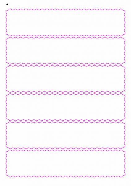 Etiketten mit gewellten Linien zum selbergestalten und ausdrucken, 190x42 mm, DIN A4, blanko, weiss, matt - Etiketten in Sonderformen / Sonderformat - SE70-04930