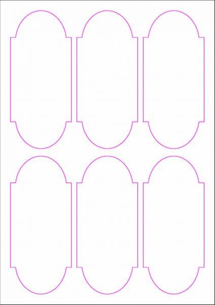 Weinflaschenetiketten 60x135 mm, DIN A4, Papier oder PE-Folie, weiss, matt, permanent klebend - SE70-09402P