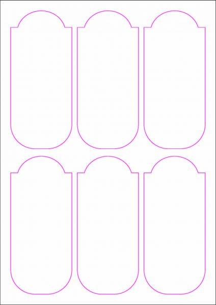 Weinflaschenetiketten 60x135 mm, DIN A4, Papier oder PE-Folie, weiss, matt, permanent klebend - SE70-09403P