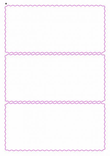 Etiketten mit gewellten Linien zum selbergestalten und ausdrucken, 190x90 mm, DIN A4, blanko, weiss, matt - Etiketten in Sonderformen / Sonderformat - SE70-04900