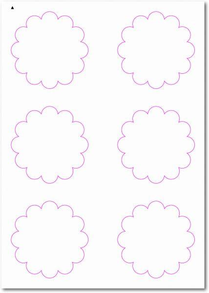 Etiketten im Sonderformat, Blumenetiketten zum selbergestalten und ausdrucken, 80x80 mm, DIN A4, blanko, weiss, matt, permanent klebend - SE70-33010