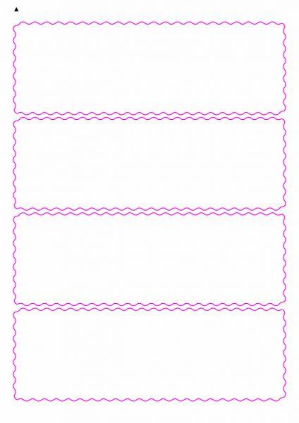 Etiketten mit gewellten Linien zum selbergestalten und ausdrucken, 190x64 mm, DIN A4, blanko, weiss, matt - Etiketten in Sonderformen / Sonderformat - SE70-04910
