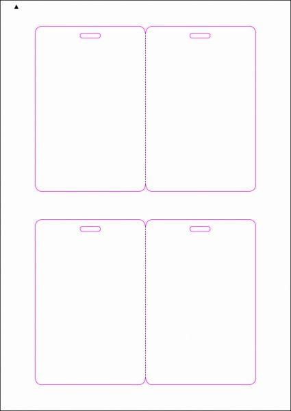 Zugangsausweis-Etiketten 80x120 mm, DIN AA, weiss, matt, permanent klebend - SE70-15020P