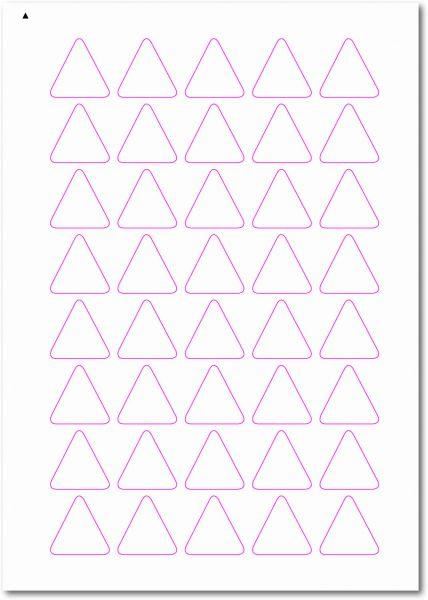 Dreieckige-Etiketten, Ecken gerundet, 30x30 mm, DIN AA, blanko, weiss, matt, permanent klebend-SE70-52030