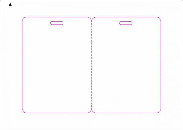 Zugangsausweis-Etiketten 80x110 mm, DIN A5, weiss, matt, permanent klebend - SE70-15515P