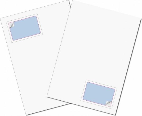 Briefbogen mit Integrierter Karte 85x54mm - Gather Card ITP 50/50µ