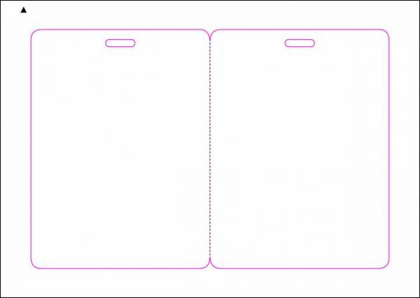 Zugangsausweis-Etiketten 90x120 mm, DIN A5, weiss, matt, permanent klebend - SE70-15765P