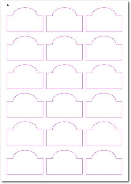 Gläser-Etiketten zum selbergestalten und ausdrucken, 60x40 mm, DIN AA, blanko, weiss, matt, permanent klebend - SE70-34510
