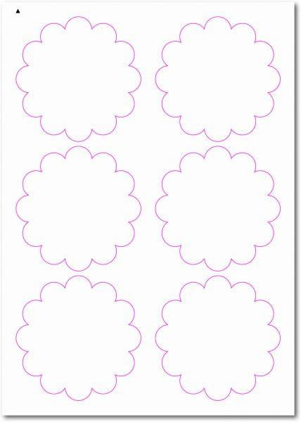 Blumenetiketten zum selbergestalten und ausdrucken, 90x90 mm, DIN A4, blanko, weiss, matt, permanent klebend - SE70-33000