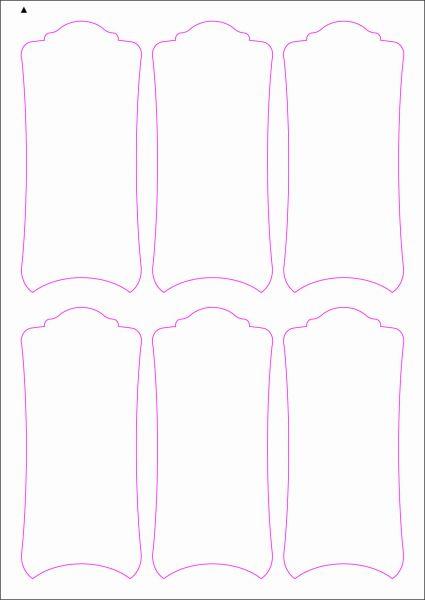 Weinflaschenetiketten 60x135 mm, DIN A4, Papier oder PE-Folie, weiss, matt, permanent klebend - SE70-09409P