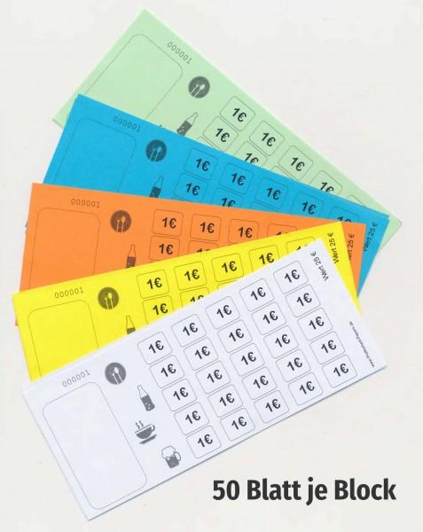 25 € Verzehrkartenblock fortlaufend nummeriert - Biermarken-/ Wertmarkenblock